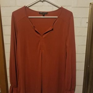 CABLE & GAUGE Blouse Womens Size Large Long Bell S